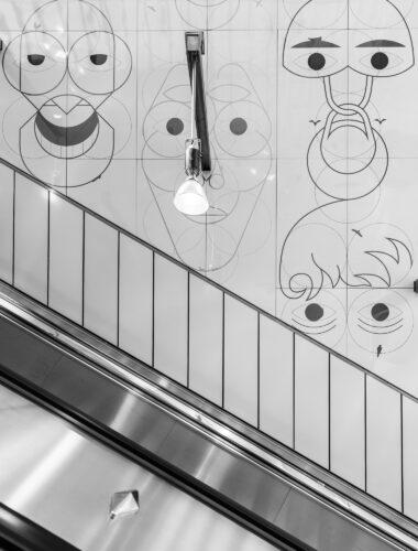 Gesichtsüberwachungsschnecken - Yves Netzhammer - U1 - Vienna